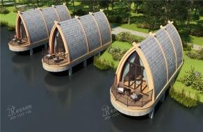 木屋欣赏|富春江的船屋,极美。