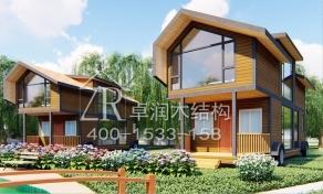 木屋别墅防腐木屋关于轻型木屋的介绍