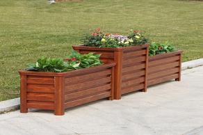 防腐木花箱适用于哪些场所?