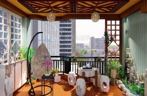 生态休闲木阳台
