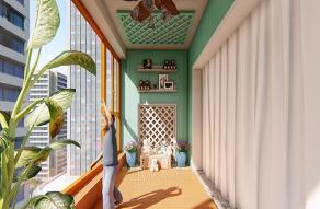 木阳台设计