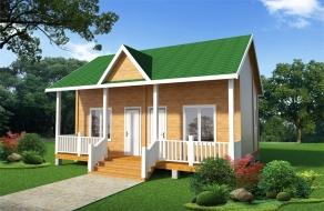 两房双联排木屋