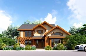 两层欧式木屋