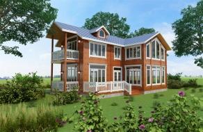 两层生态休闲木屋