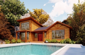 两层度假木屋