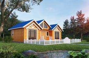 民宿两房一厅生态木屋