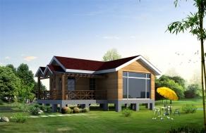 两房一厅生态木屋