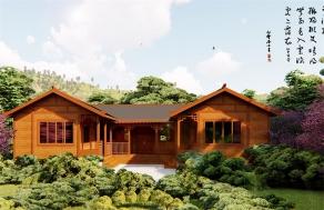 四合院中式木屋