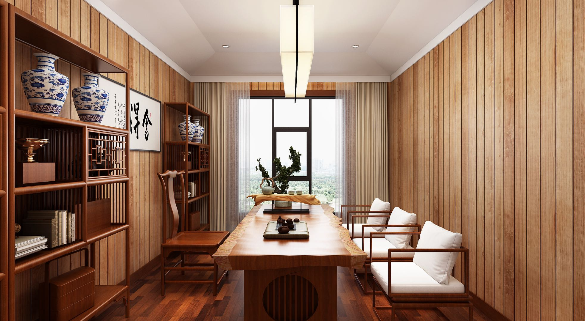 室内效果图—茶室